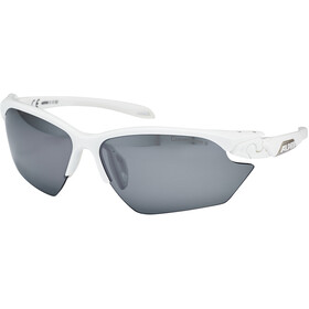 Alpina Twist Five HR S CM+ Lunettes, white matt-silver